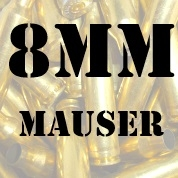8mm Mauser Brass - 100+ Cases
